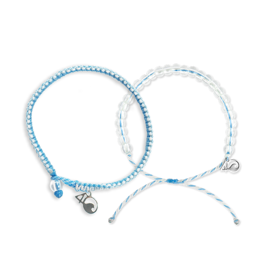 4ocean Beluga Whale Beaded and Braided Bracelet 2-Pound Pack