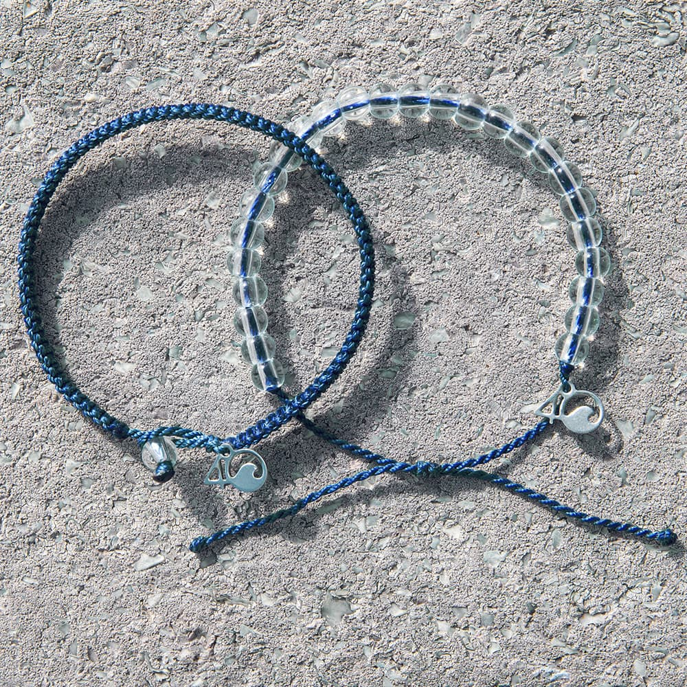 4ocean Bluefin Tuna Beaded and Braided Bracelet 2-Pound Pack Laydown