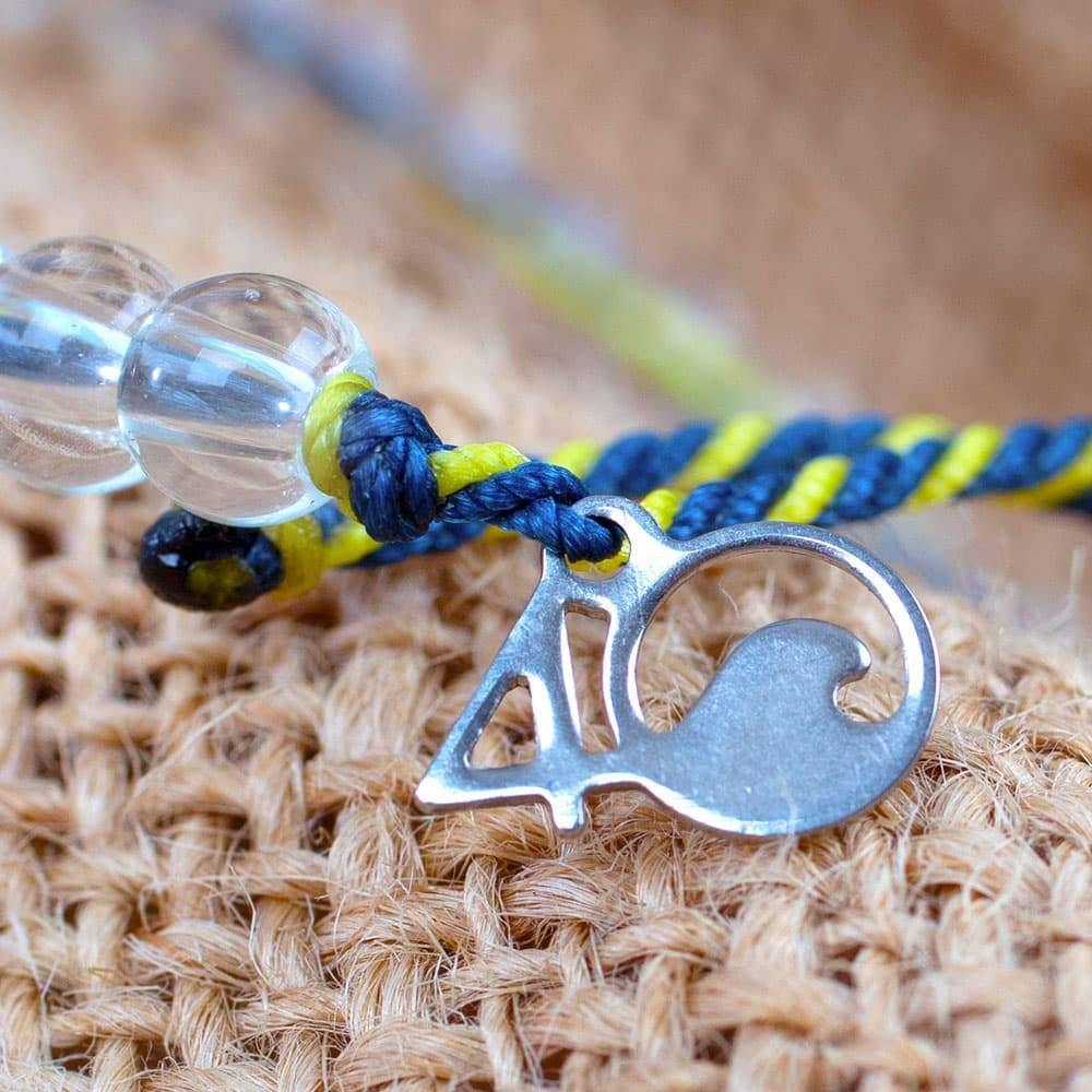 A Closeup of the 4ocean Below Deck Bravo TV Limited Edition Beaded Bracelet