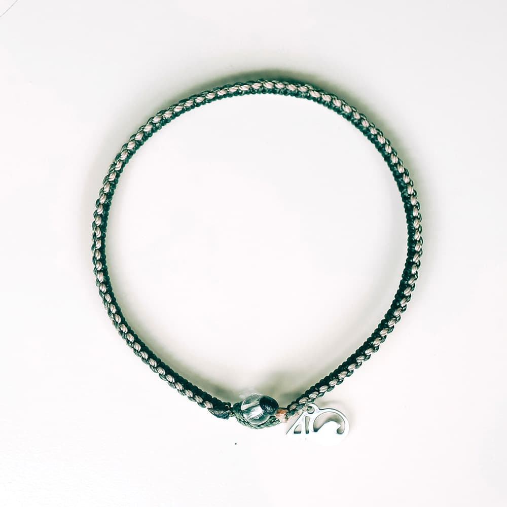 4ocean Everglades Braided Bracelet on a White Background