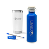 4ocean Holiday Gift Guide Drinkware Pack Featuring a 4ocean Collapsible Straw, Reusable Water Bottle and 20oz Yeti