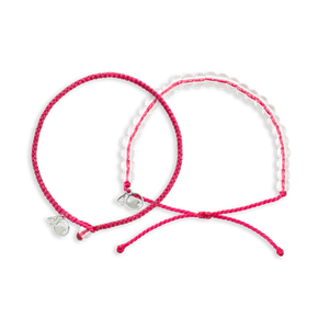 4ocean Pink Flamingo Beaded and Braided Bracelet 2-Pound Pack