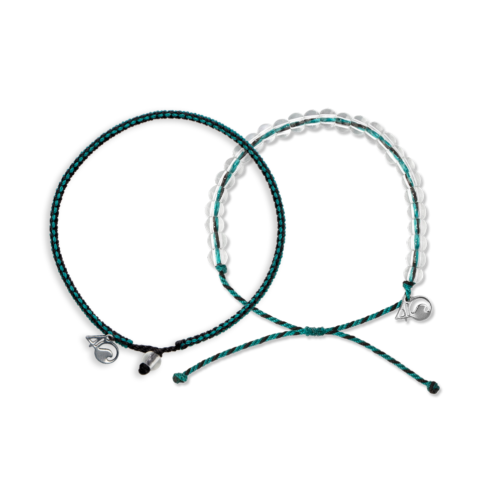 4ocean Sea Otter Beaded and Braided Bracelet 2-Pound Pack