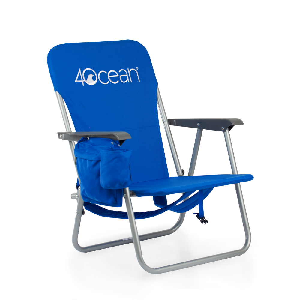 4ocean Signature Kids Backpack Beach Chair in Blue
