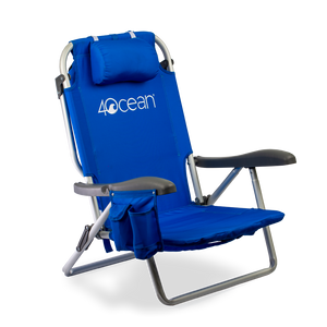 4ocean Signature Layflat Backpack Beach Chair in Blue