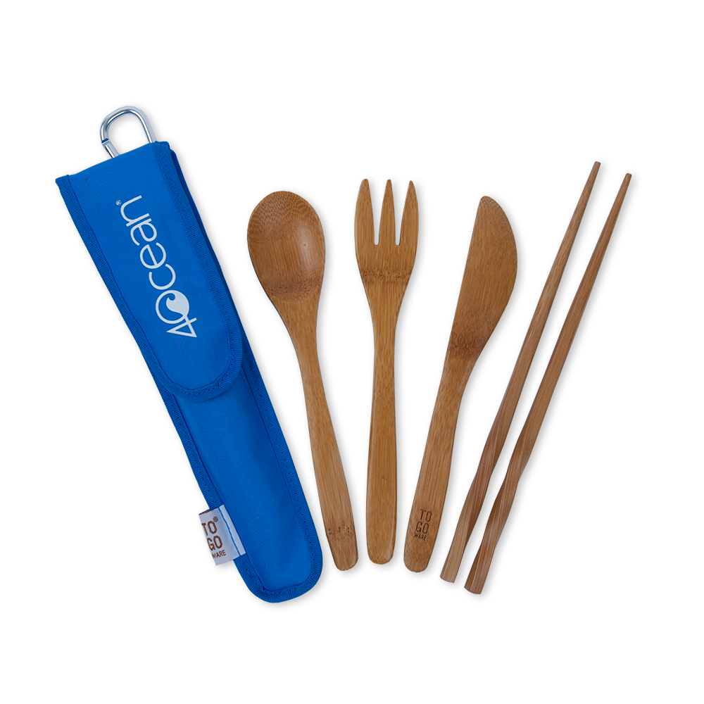 4ocean To-Go Wear Reusable Bamboo Eating Utensils