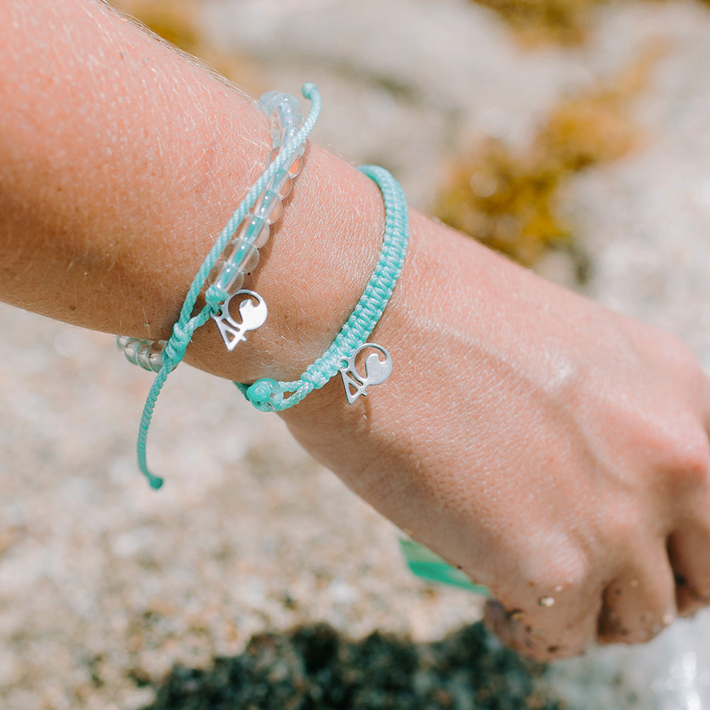 4ocean Great Barrier Reef Beaded and Braided Bracelet 2-Pound Pack Closeup on a Wrist