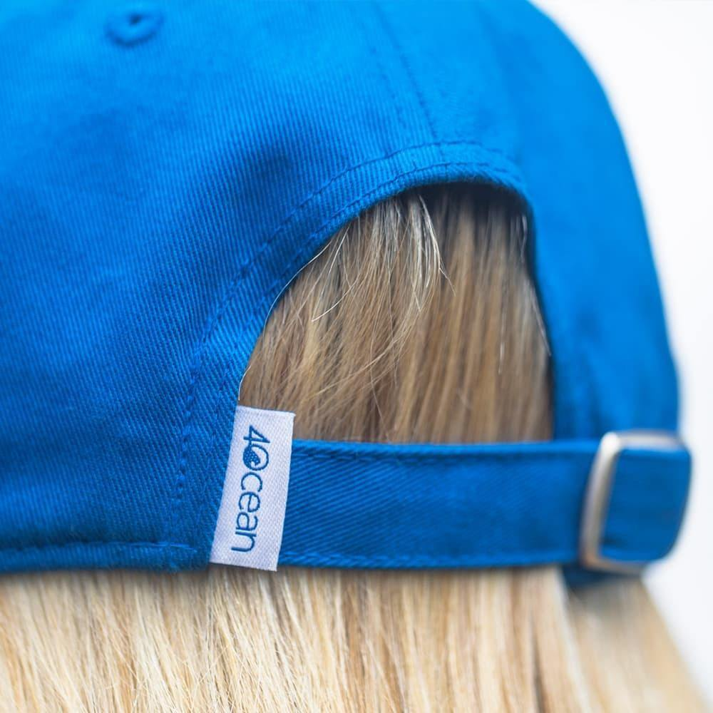 Back view of the 4ocean low profile 4O logo hat