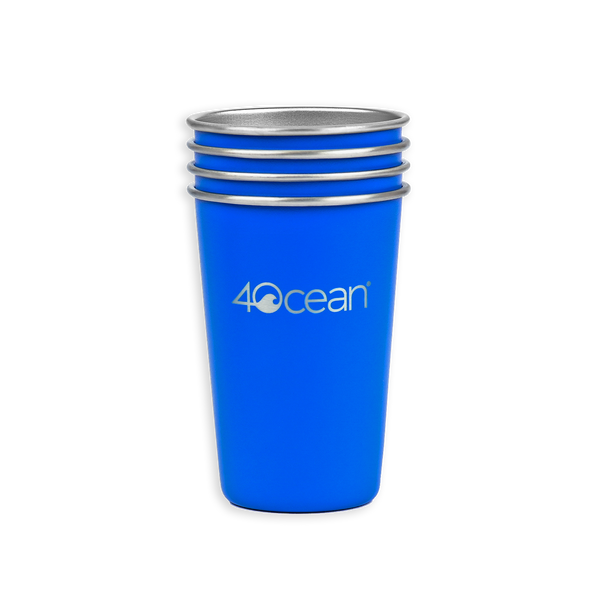 4ocean Reusable Stainless Steel Cups 4-Pack featured image