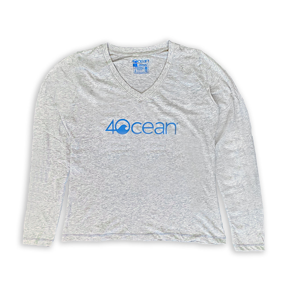 4ocean Logo Women's V-Neck Long Sleeve T-Shirt