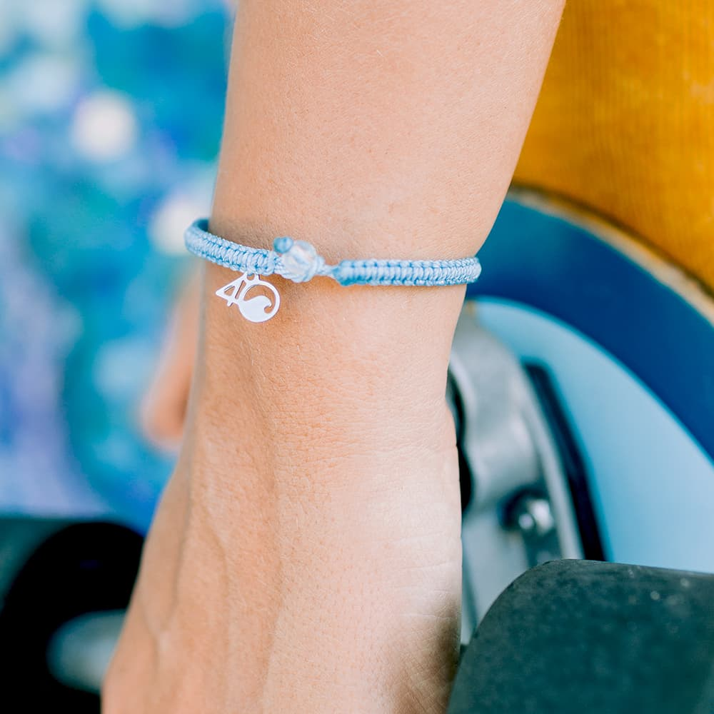 4ocean Jellyfish Braided Bracelet on a Wrist