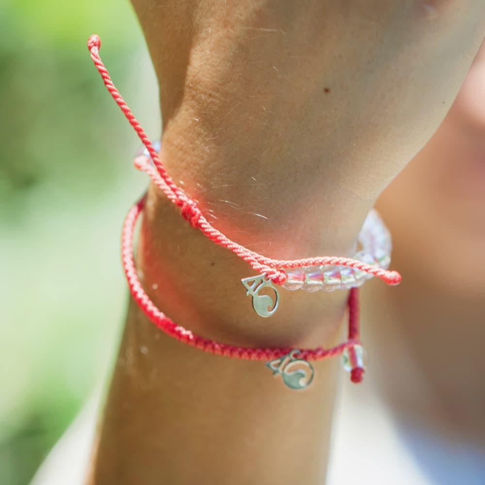 4ocean Coral Reef Bracelet 2-Pound Pack Shown on a Wrist