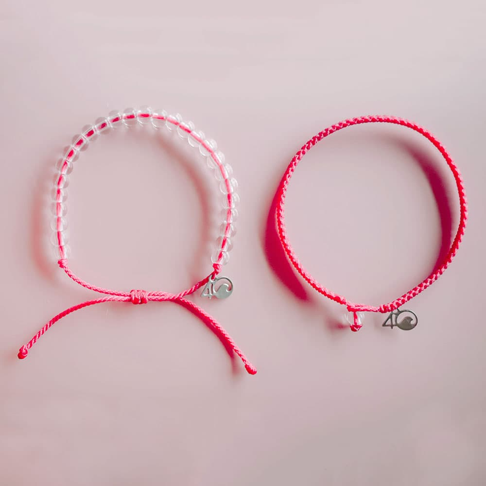 4ocean Pink Flamingo Beaded and Braided Bracelet 2-Pound Pack Laydowns