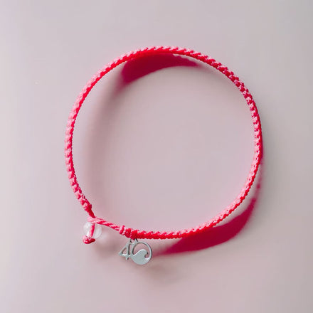 4ocean Pink Flamingo Braided Bracelet laydown
