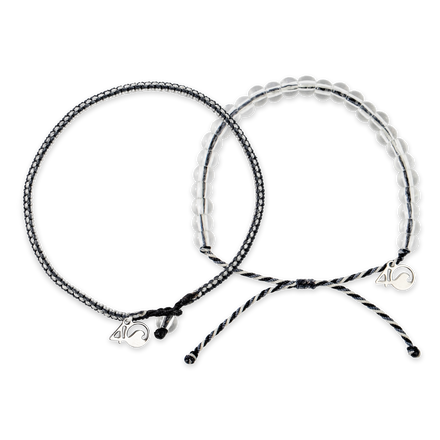 The 4ocean Great White Shark Braided and Beaded Bracelet 2-Pound Pack