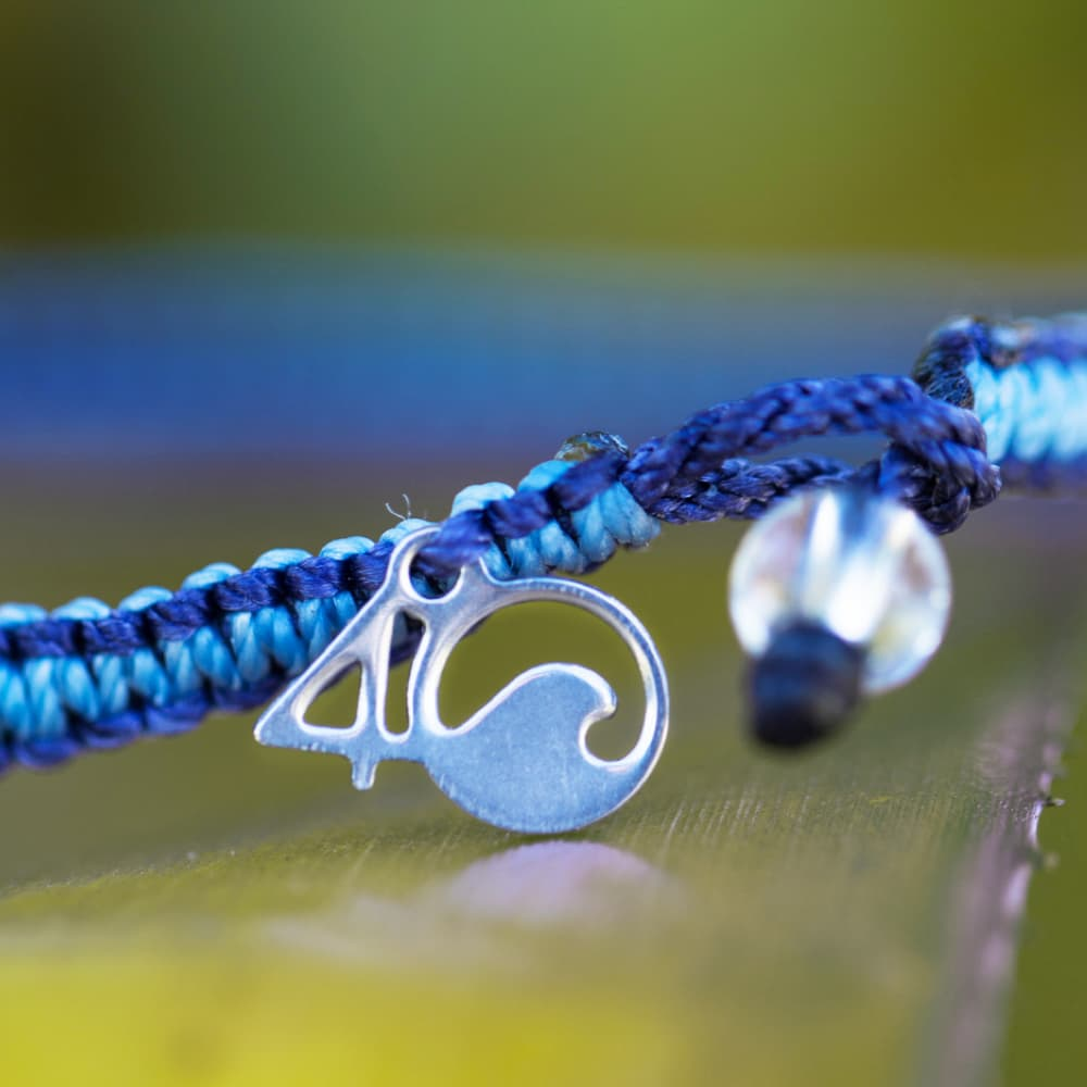 The 4ocean Whale Braded Bracelet - Close-up View