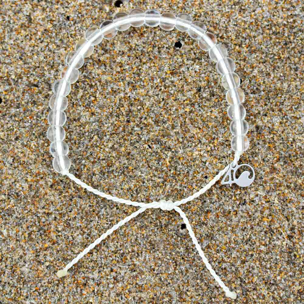 4ocean Polar Bear Beaded Bracelet on sand