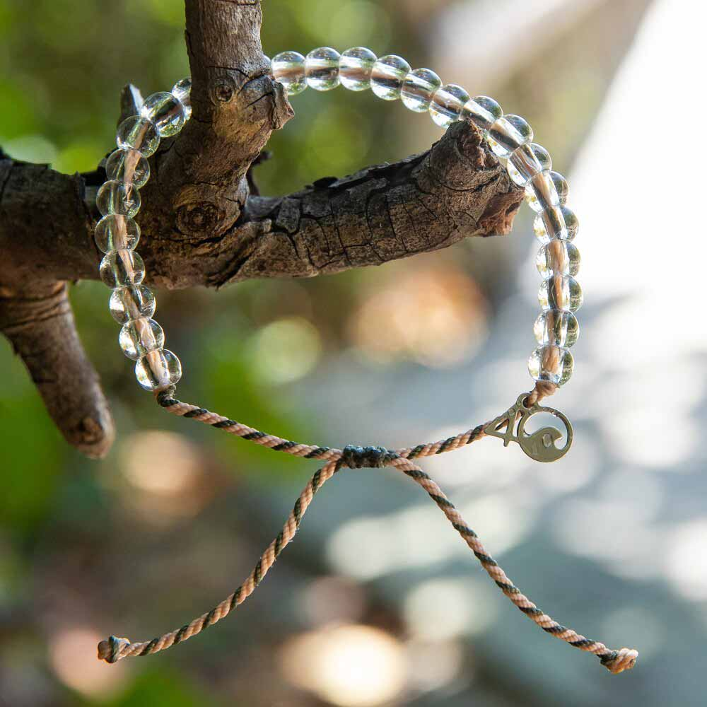 4ocean Everglades Beaded Bracelet Hanging on a Tree Branch