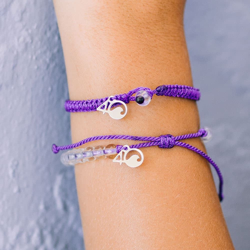 The 4ocean Hawaiian Monk Seal Beaded and Braided Bracelet 2-Pound Pack on a Wrist