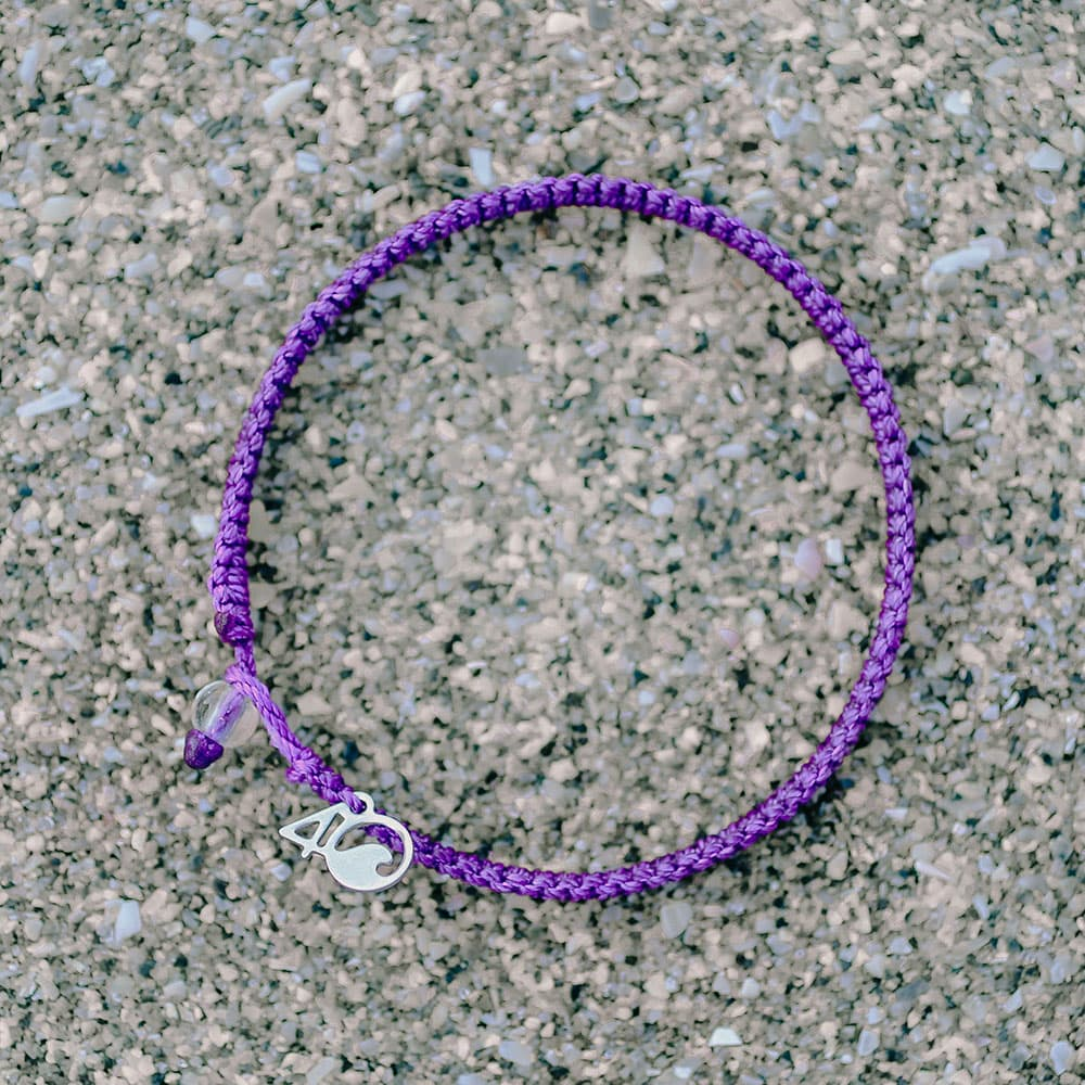 The 4ocean Hawaiian Monk Seal Braided Bracelet On a Beach