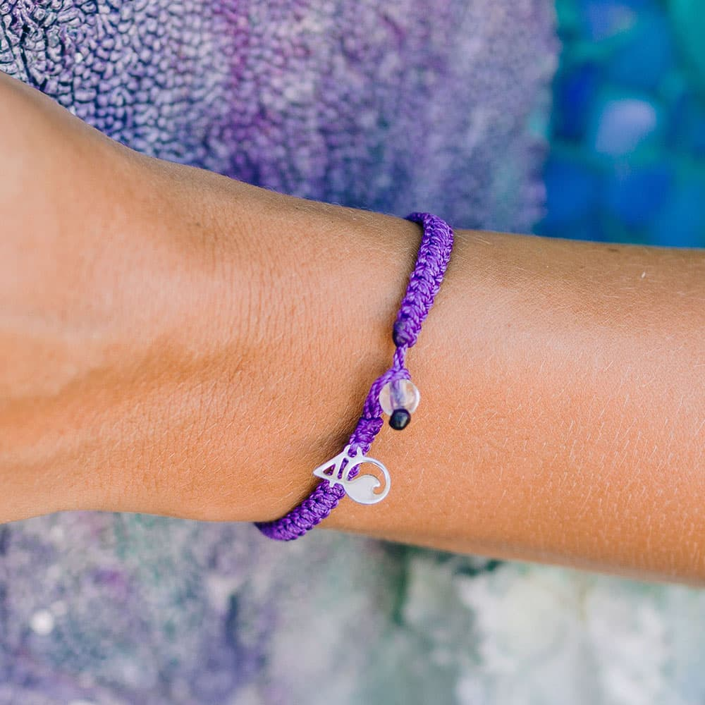 The 4ocean Hawaiian Monk Seal Braided Bracelet On a Wrist