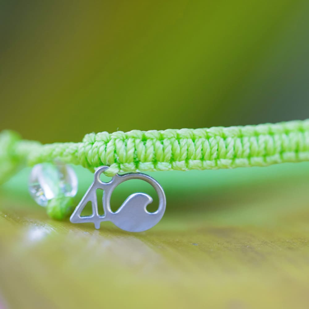 4ocean Sea Turtle Braided Bracelet Close-up