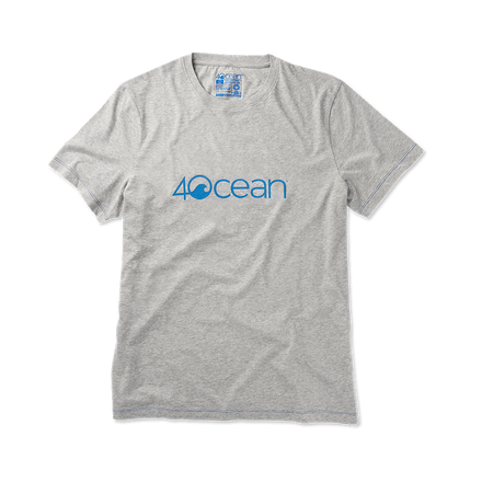 4ocean logo unisex men's and women's t-shirt - grey