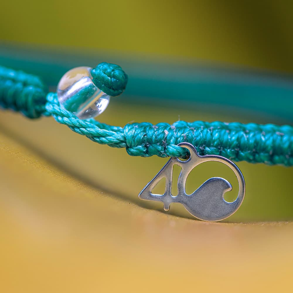 4ocean White-Sided Dolphin Braided Bracelet Closeup