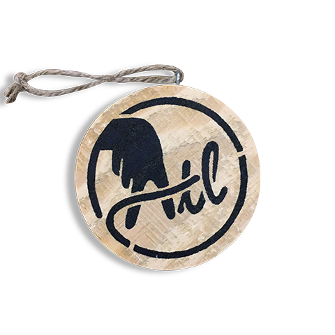 Wooden ATL Holiday Ornament in Black