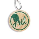 Wooden ATL Holiday Ornament in Green