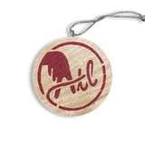 Wooden ATL Holiday Ornament in Red