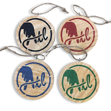 Wooden ATL Holiday Ornaments