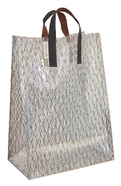 standard sail tote w/ leather handle
