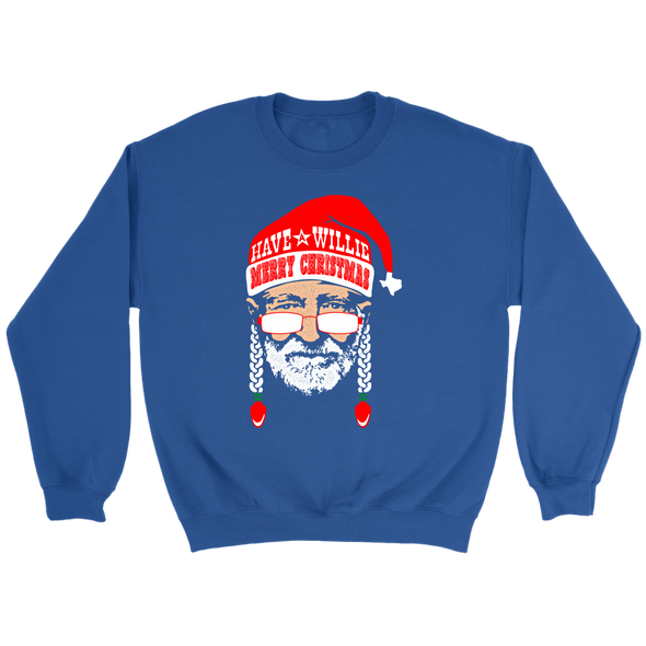 Have A Willie Merry Christmas - Willie Nelson Inspired - Unisex Sweatshirt - ATX HUMOR
