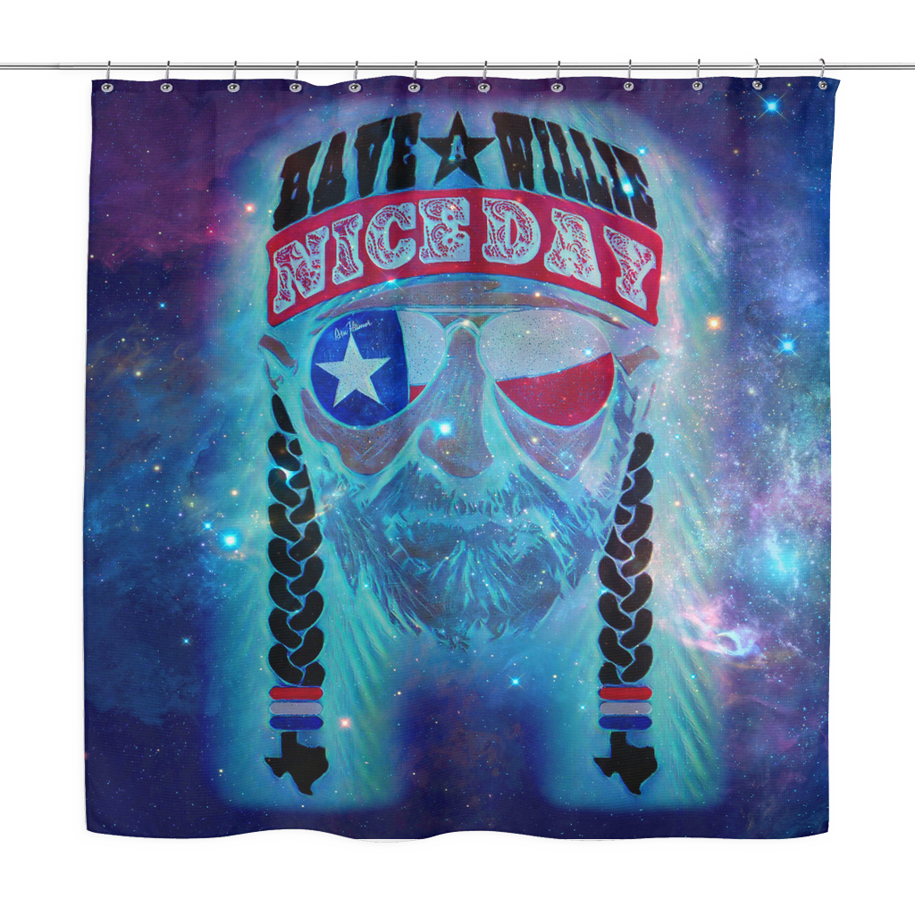 Have A Willie Nice Day In Space Shower Curtain