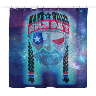 Have A Willie Nice Day In Space Shower Curtain - ATX HUMOR