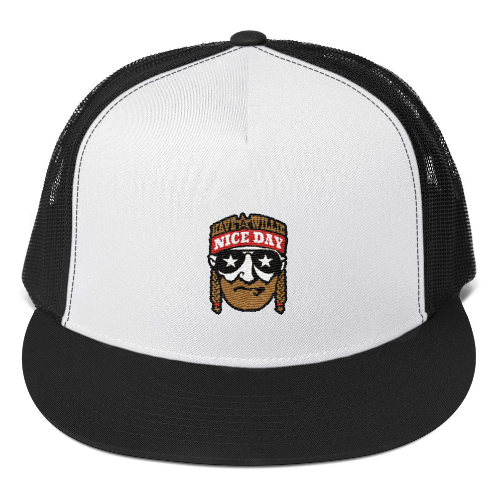 59b347f8380 Have A Willie Nice Day (Color) Willie Nelson Inspired - Snapback Hat – ATX  HUMOR