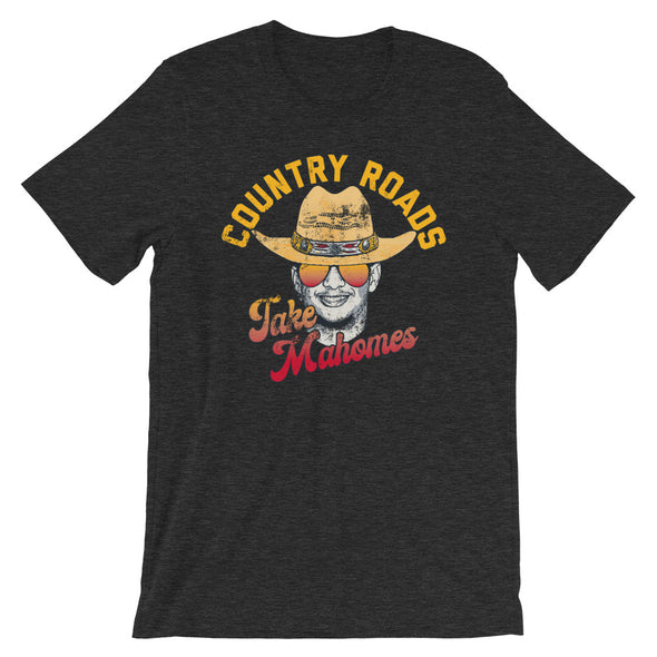 Country Roads Take Mahomes - Patrick Mahomes Kansas City Chiefs Inspired -  Unisex T-Shirt - ATX HUMOR
