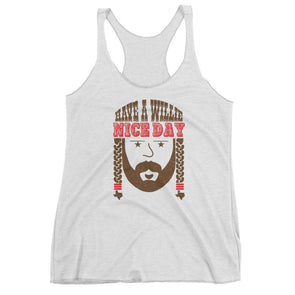 Have A Willie Nice Day Throwback Womens Tank Top - ATX HUMOR