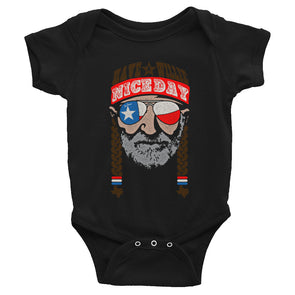 Have A Willie Nice Day Lone Star - Willie Nelson Inspired - Baby Bodysuit - ATX HUMOR