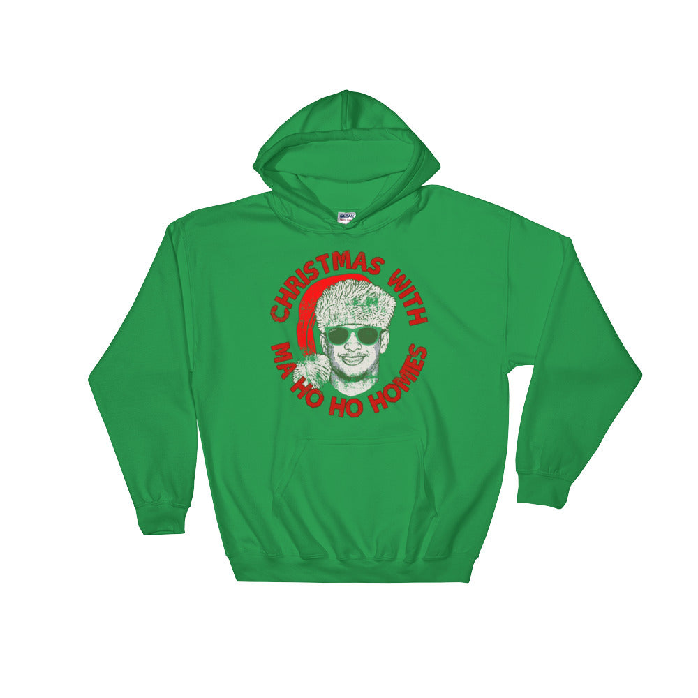 online store 1bcc2 17b94 Christmas With Ma Ho Ho Homies - Patrick Mahomes Chiefs Ugly Sweater  Inspired - Unisex Hooded Sweatshirt