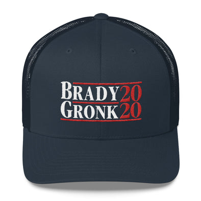 Brady Gronk 2020 We Ain't, Go-in Nowhere - Tom Brady Patriots Inspired - Snapback Trucker Cap - ATX HUMOR