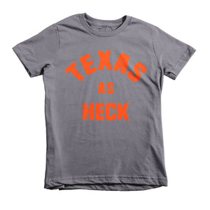 Texas As Heck (Orange) Kid's T-Shirt - ATX HUMOR