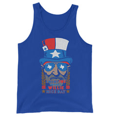 Willie Nelson July 4th Unisex Tank Top
