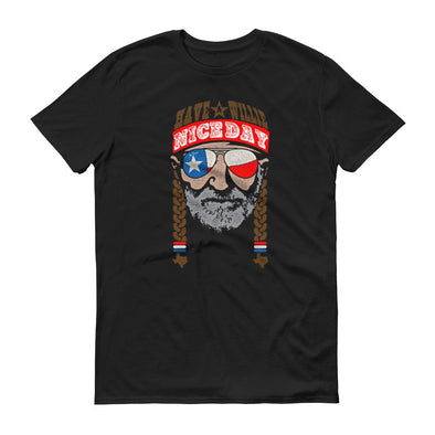 Have A Willie Nice Day Lone Star - Willie Nelson Inspired - Unisex T-Shirt - ATX HUMOR