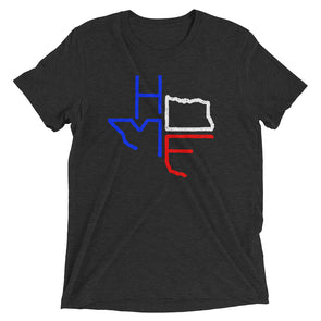 Texas is Home (Red White and Blue Print) Unisex T-Shirt - ATX HUMOR