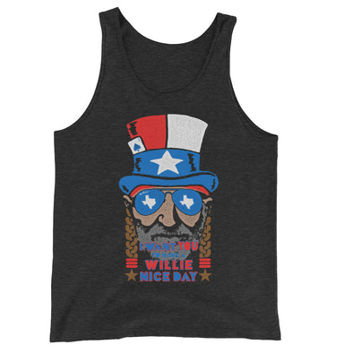 Willie Nelson July 4th Unisex Tank Top - ATX HUMOR