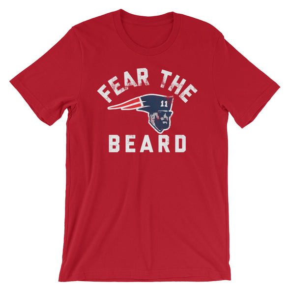 Fear The Beard - Julian Edelman New England Patriots Football Inspired Unisex T-Shirt - ATX HUMOR