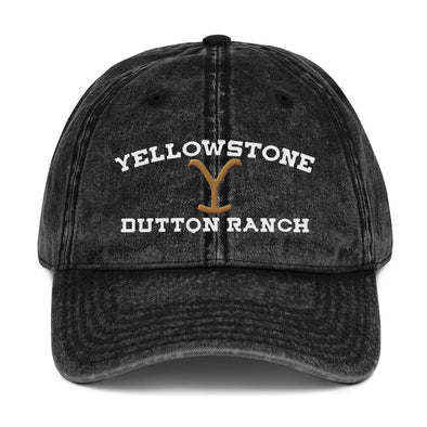 Yellowstone Dutton Ranch Inspired Vintage Cotton Twill Cap