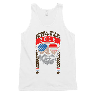 Vote For Willie 2016 Classic Tank - ATX HUMOR
